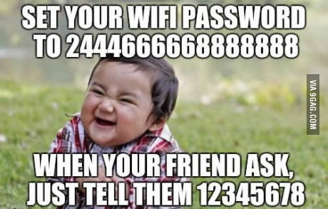Image result for wifi password 2444666668888888