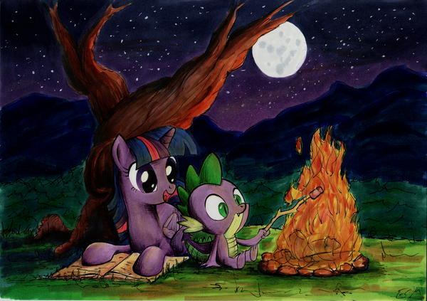 One Clear Night my little pony, Twilight Sparkle, рисунок