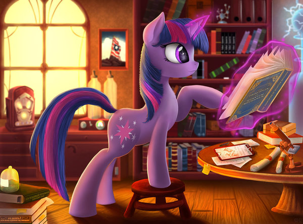 Time for science my little pony, Twilight Sparkle, рисунок