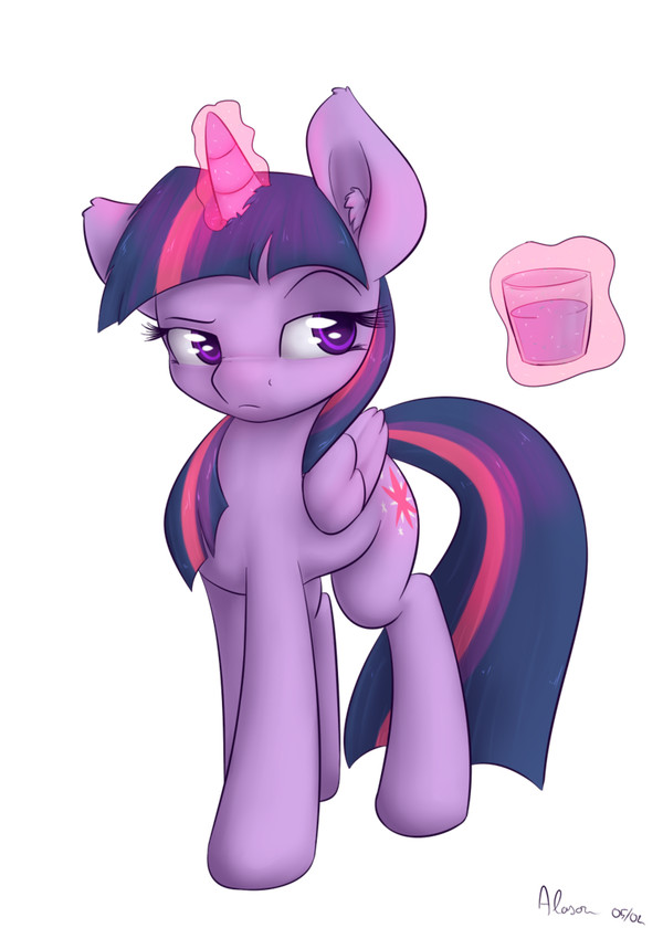 Just a tiny glass of water my little pony, Twilight Sparkle, рисунок
