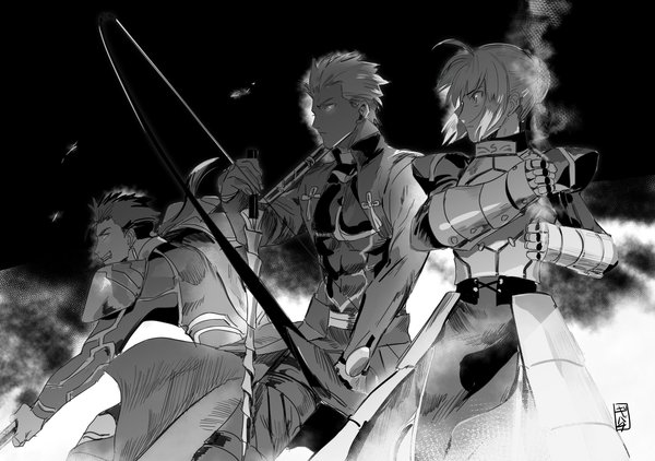 Ready to Fight saber, Archer, lancer, Fate, fate-stay night, Anime Art, аниме