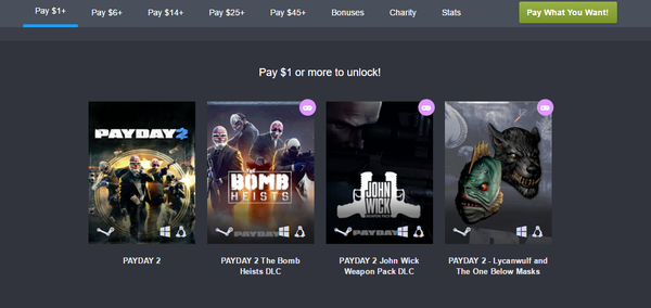 Humble Bundle: Payday 2 + DLC Humble Bundle, payday, steam