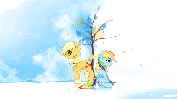 Тяжелые дни my little pony, ponyart, Derpy Hooves, AppleJack, rainbow dash