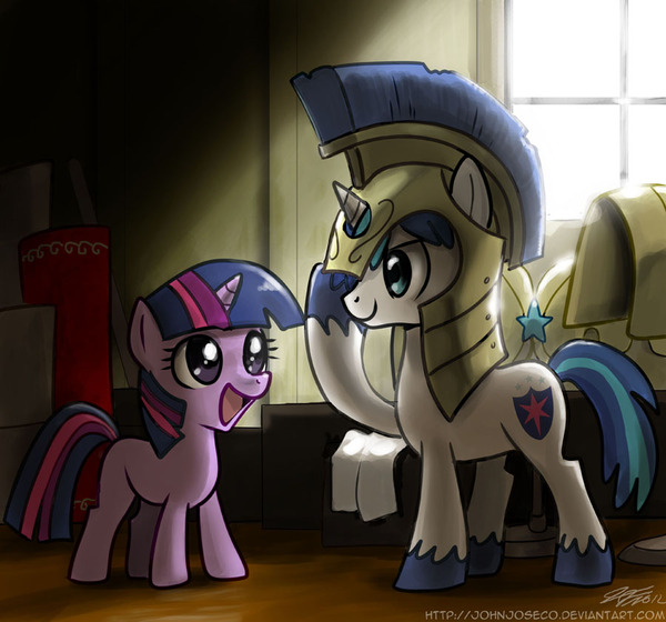 You'll Make the Best Royal Guard! my little pony, ponyart, Twilight Sparkle, shining armor
