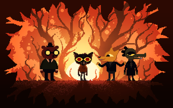 Night in the Woods Night in the woods, Игры, фан-арт, Pixel art