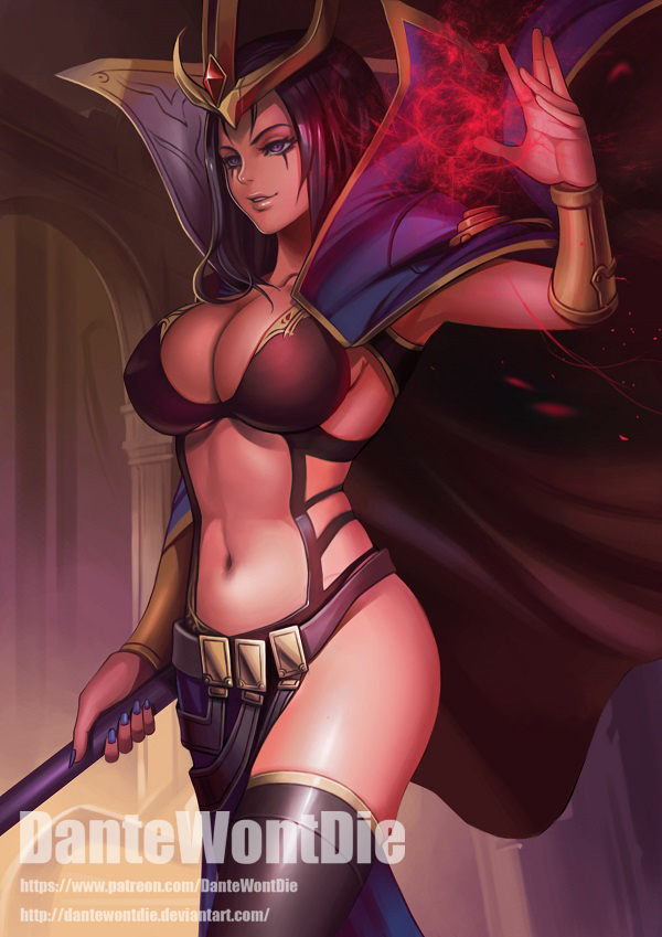 Leblanc арт, Игры, League of Legends, LeBlanc
