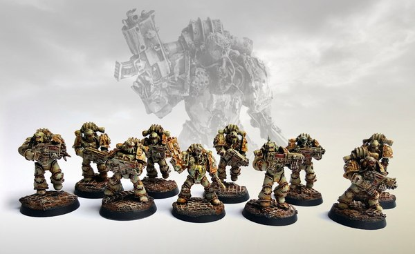 Death guard squad of Nurgle by philydorf.