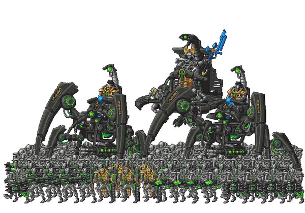 Tomb March Warhammer 40k, Necrons, wh art, Pixel art, гифка