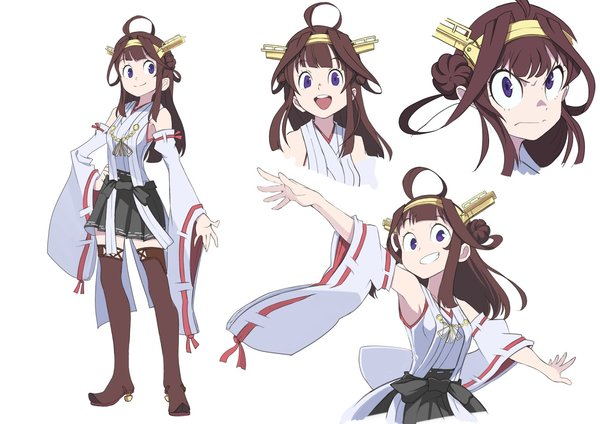 The Little Witch KONGOOOU DEEESUU! kantai collection, little witch academia, kongou, аниме, Anime Art