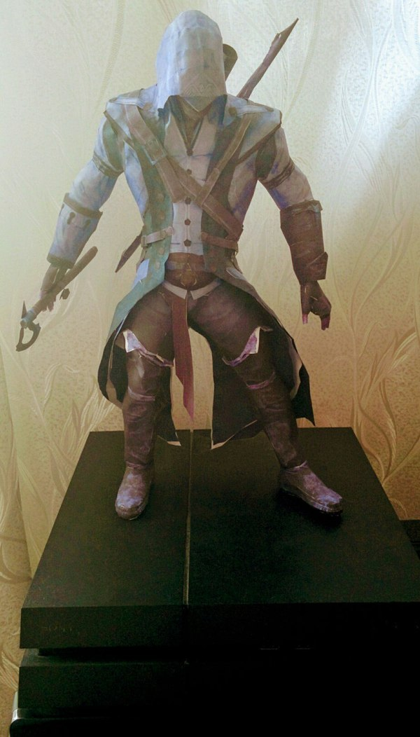 Assassin's Creed 3 Papercraft Connor Kenway assassins creed, Asassins Creed 3, papercraft, моё, пятничный тег моё, длиннопост