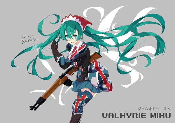 Hatsune Miku аниме, vocaloid, Hatsune Miku, anime art, crossover, Valkyria Chronicles, длиннопост