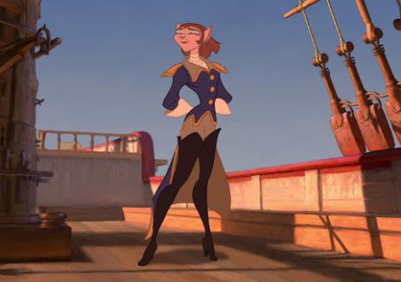 Сексуальные девушки капитан амелия мультфильмов