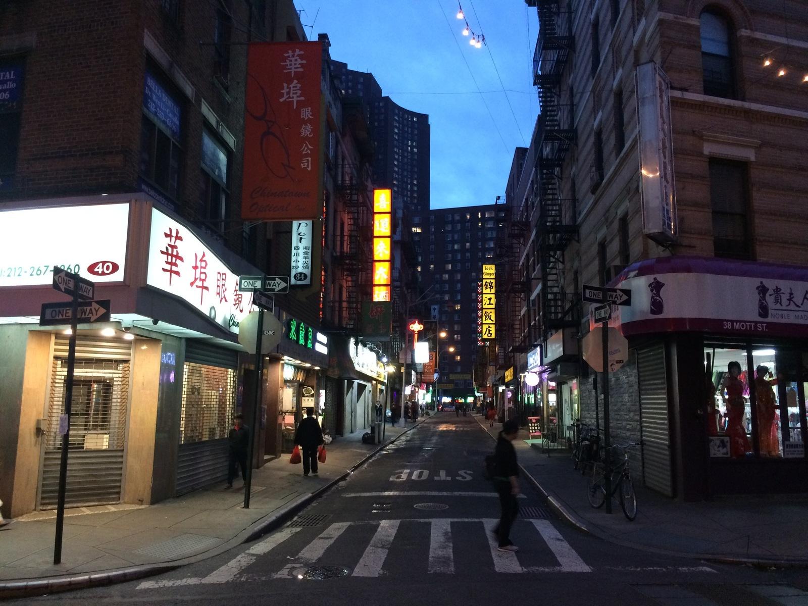 Обои ночь, движение, manhatten, чайнатаун, улица, здание, манхеттен. Города foto 13