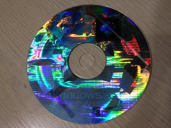 А раньше лицензионные диски Windows выглядели так... Windows 98, Лицензия, диск