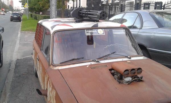 Безумный дед Максим-2: на дороге всё яростней. Безумный макс, АвтоВАЗ, Тюнинг, Жигули, Пулемёт, Я не могу в гиперссылки