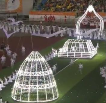 Обзор церемонии открытия Дети Азии 2016 (часть 2) якутск, дети азии, церемония открытия, обзор, голая, Якутия, длиннопост