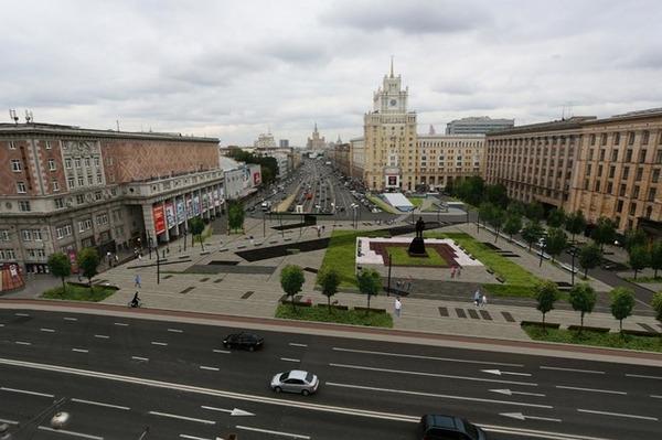 Площадь Маяковского во время строительства и сейчас Фото, Москва, Историческое фото