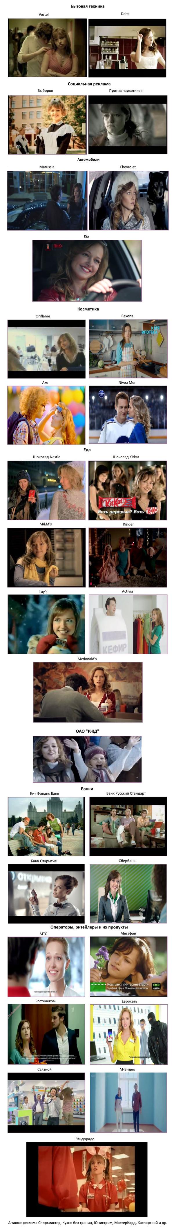 Эта девушка снялась в рекламе... Всего Реклама, Скриншот, Юлия Васильева, Product placement, Длиннопост