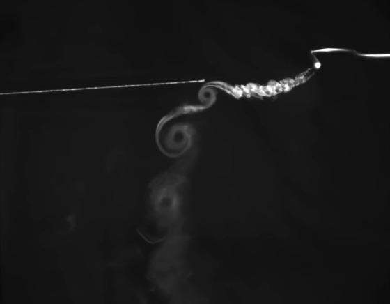 Возникновение концевых вихрей Физика, Концевой вихрь, Дым, Лопасть, Интересное, Гифка