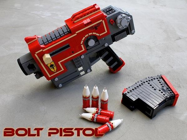 Болт Пистолет Warhammer 40k, Оружие, Конверсия, Lego, LEGO Digital Designer