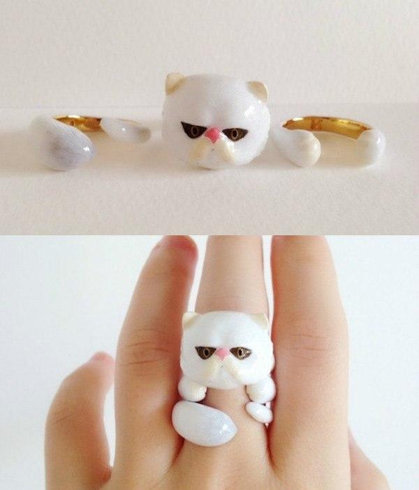 Очень милые наборные кольца. Идея для тех, кто лепит из глины(например) Кольцо, Творчество, Искусство, Украшение, Ручная работа, Идея, Креатив, Длиннопост
