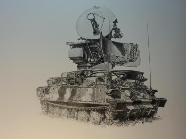 Картины. картина, военная техника, Авиация, Бронетехника, военная авиация, Великая Отечественная война, пво, РЛС, длиннопост