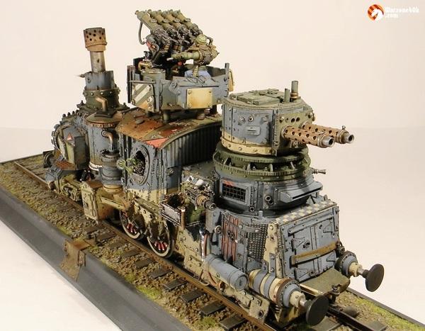 Еще один броневагон Warhammer 40k, Длиннопост, Моделизм, Орки, Конверсия, Бронепоезд