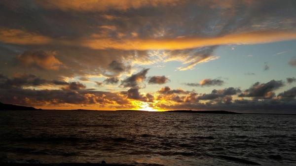 Рассвет на острове Диксон