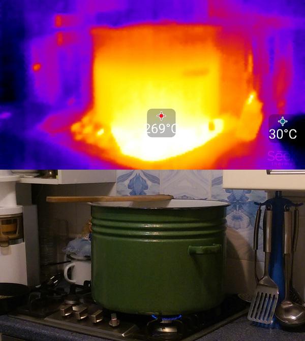 Чуть-чуть тепловизора Тепловизор, кот, seek thermal, арубз, печка, кальян, фен, вода, длиннопост