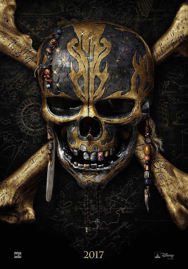 Первый постер к фильму «Пираты Карибского моря: Мертвецы не рассказывают сказки» Пираты карибского моря 5, Пираты карибского моря, Постер, 2017, Фильмы