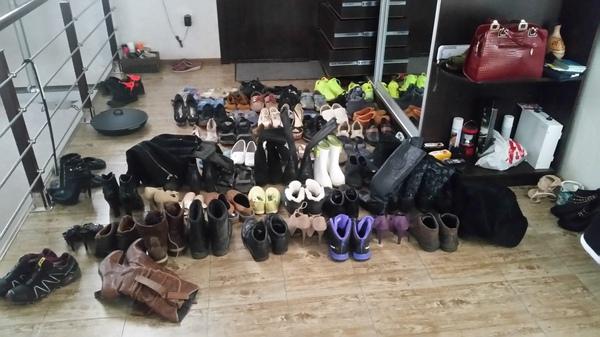 А сколько ног у Вашей домашней сороконожки? Обувь, Уборка, Быт