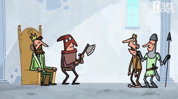 И снова про ТЗ Гифка, Техзадание, Палач, Король, Мультфильмы, Frame Order