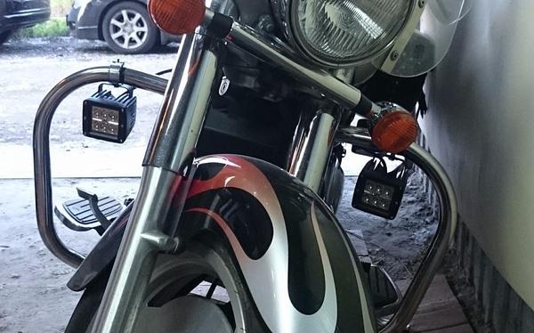 Дополнительный свет на мотоцикл ДХО, Фары, Мото, Моё, Электрика, Дополнительный свет, Реле, Влагозащита, Длиннопост