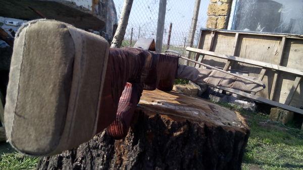 """Арбалет из """"Дружбы"""" v2.0 арбалет, дерево, сталь, пила, кожа, длиннопост"""