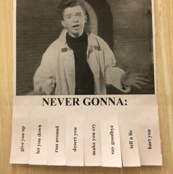 Never gonna...
