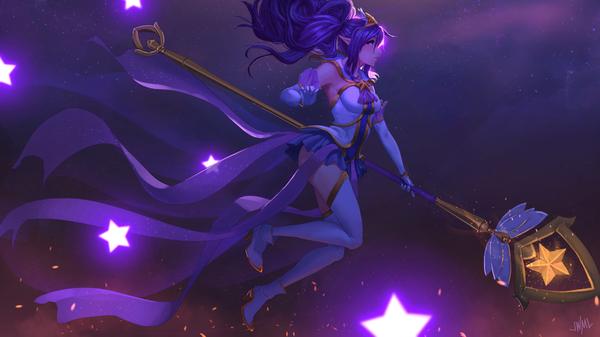Star Guardian Janna Арт, Игры, League of Legends, Жанна