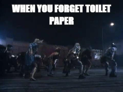 Когда забыл туалетную бумагу
