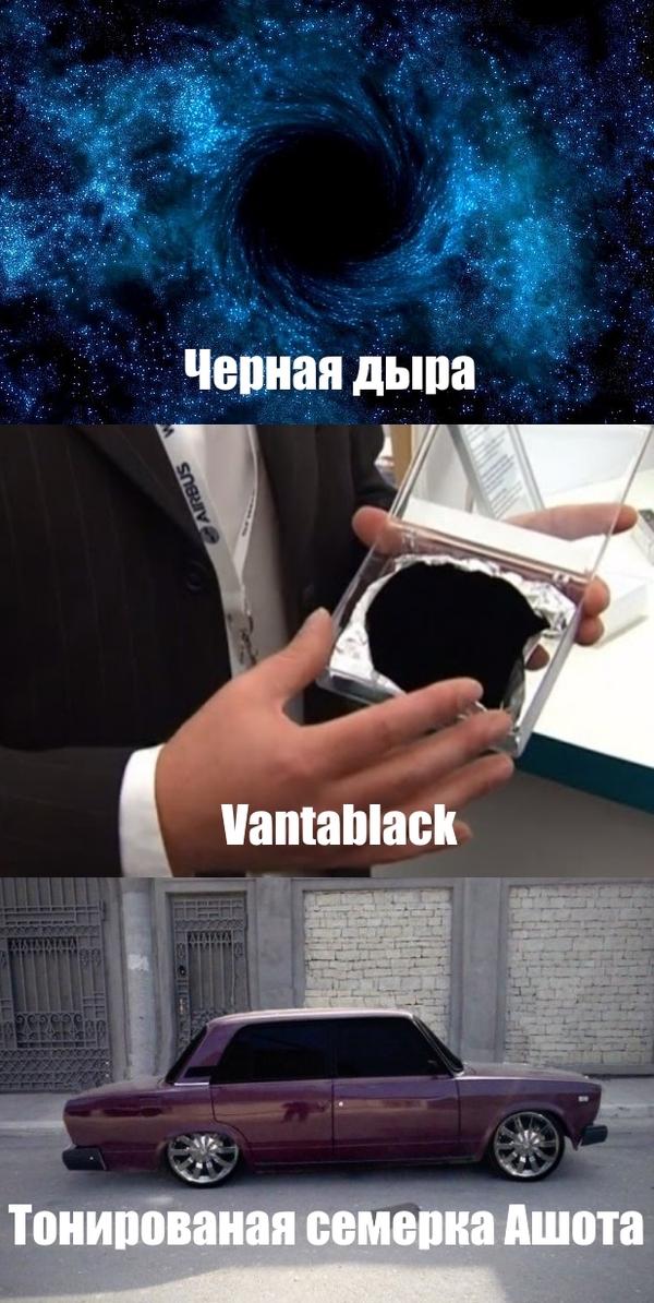 Топ-3 самых черных вещей во вселенной Черная дыра, Тонировка, Vantablack