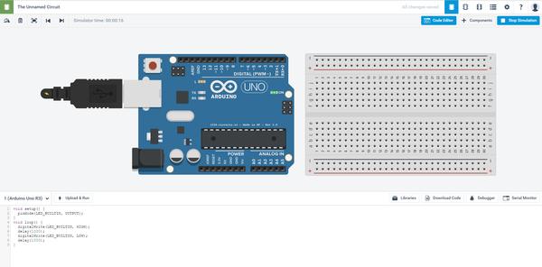 Сircuits от Autodesk — бесплатный online-конструктор Arduino, Электроника, Начинающий, Circuits, Программа, Длиннопост