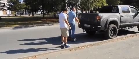 Как по современному толкать автомобиль