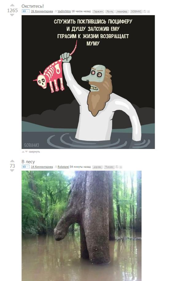 Окститесь в лесу, с муму!
