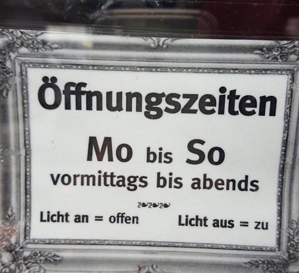 Режим работы режим работы, перевод, табличка, вывеска, мой перевод, Германия, немецкий язык