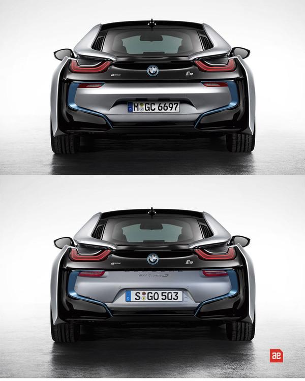 BMW i8 выглядит сзади будто... кхм... извергает из себя Porsche 911.