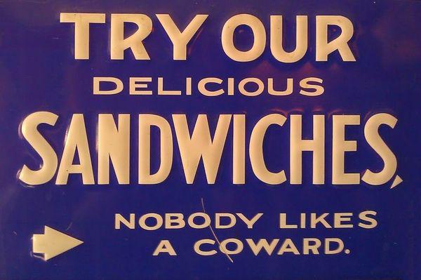 Это вызов. Надо так на точках, торгующий шаурмой, писать ) Бутерброд, Сендвич, Трус