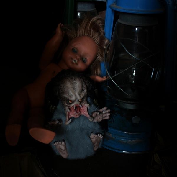 Крошка Хищник хищник, Чужой против Хищника, авторская игрушка, крипота, ручная работа, predator, моё, длиннопост