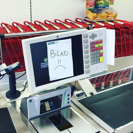 В Исландском магазине не работает касса