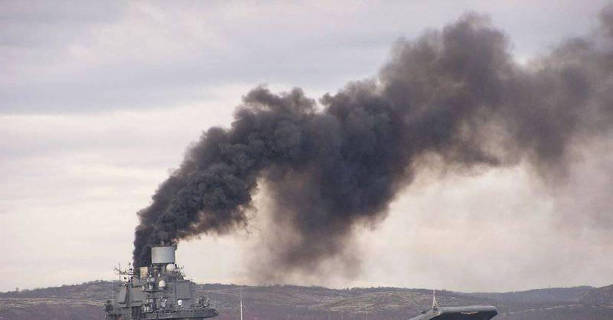 фото дыма от крейсера с космоса ведь