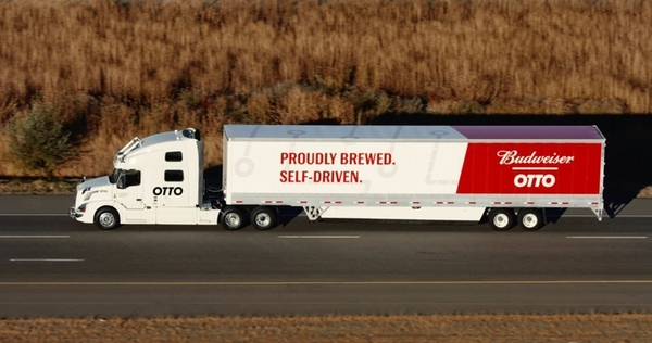 Первым грузом, доставленным при помощи беспилотного грузовика, стала партия пива Пиво, Беспилотный грузовик, Вольво, Otto, Доставка грузов