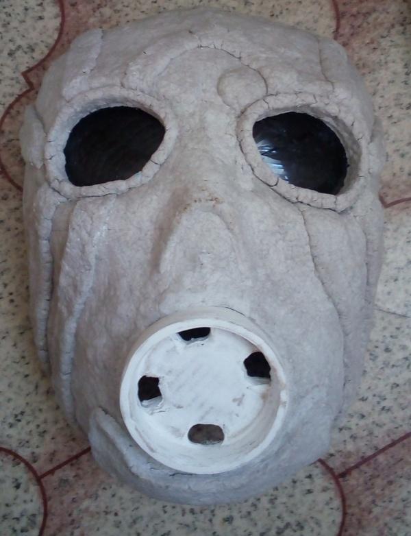 Маска Психа из серии игр Borderlands. маска, папье-маше, borderlands, Своими руками, длиннопост