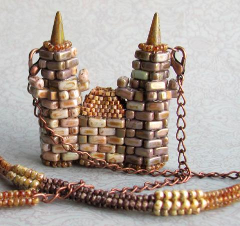 Мой замок замок, Castle, бисер, украшение из бисера, моё, украшение, бисероплетение, длиннопост